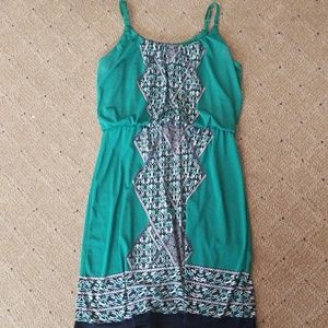 Maurices Teal Tank Dress with Designs
